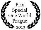 Prix Spécial au One World de Prague