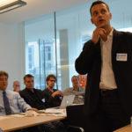 Edouard Perrin avec L'équipe LuxLeaks à Bruxelles (Photo : Mar Cabra)
