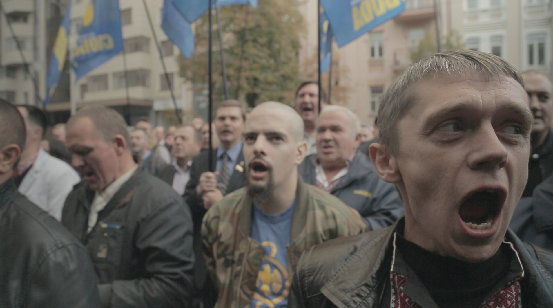 Militant parti Svobada:(c)PREMIERES LIGNES