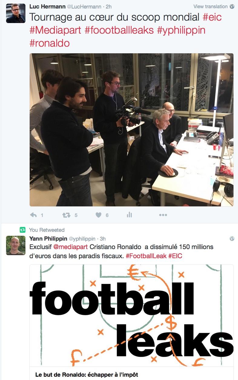 Fooball Leaks tournage Mediapart